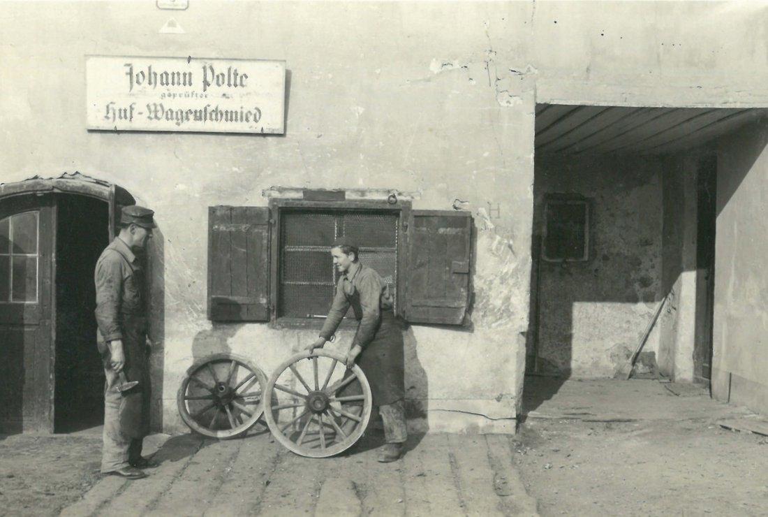 1938 Lehre bei Johann Polte